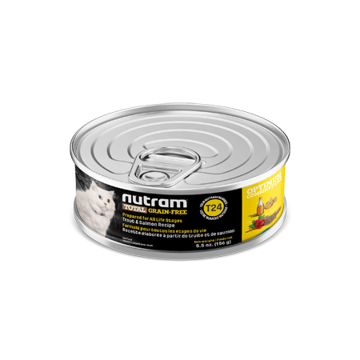 Picture of T24-Nutram Cat Trout/Salmon Wet Food 156g