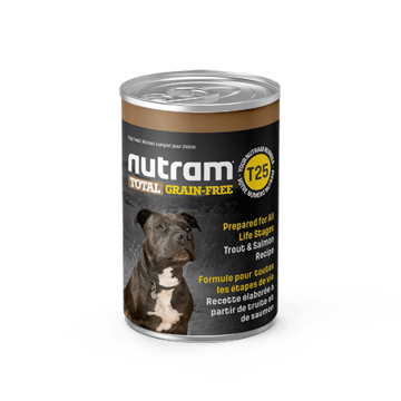 Picture of T25-Nutram Dog Trout/Salmon Wet Food 369g