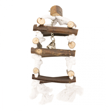 Picture of WOODEN CLIMB TOWER WITH ROPE 34cm