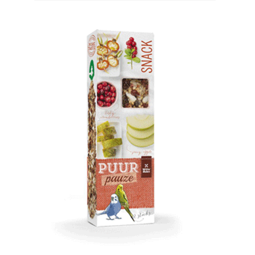 Picture of PUUR PAUZE STICKS BUDGIE APPLE & ROSEHIP 60GR