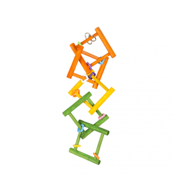 Picture of Colorful wooden bird ladder 50x12cm