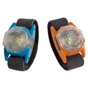 Picture of FLASHLIGHT OCTA USB 4x2,8x1,6cm blue/orange