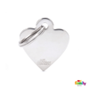 Picture of Small Heart Chrome Plated Brass