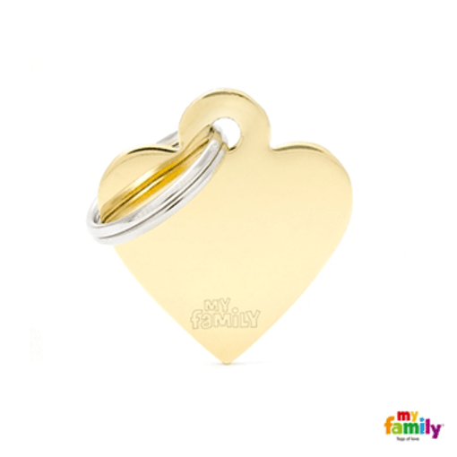 Picture of Small Heart Golden Brass