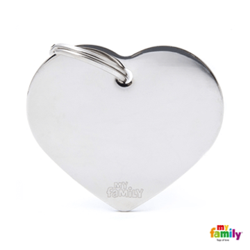Picture of Big Heart Chrome Plated Brass