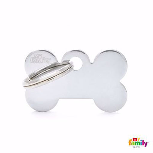 Picture of Small Bone Chrome Plated Brass
