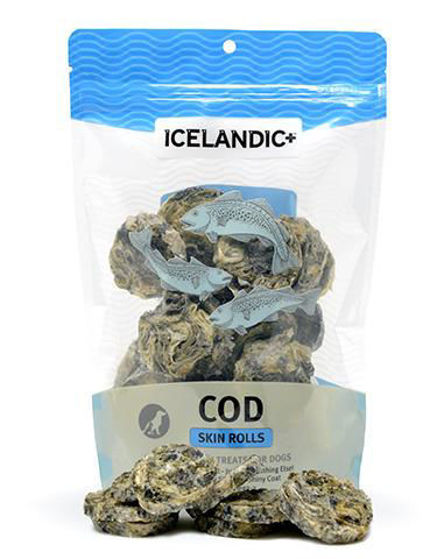 Picture of Icelandic+ Cod Skin Rolls Dog Treat 3-oz Bag