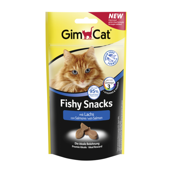 Picture of GimCat Fishy Snacks with salmon 35 g