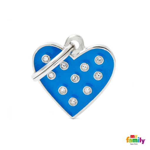 Picture of BLUE HEART STRASS