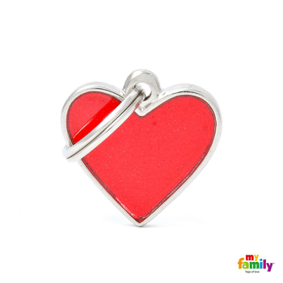 Picture of BIG HEART REFLECTIVE RED