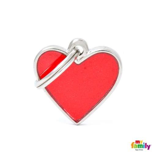 Picture of SMALL HEART REFLECTIVE RED