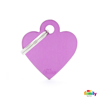 Picture of SMALL HEART ALUMINUM PURPLE