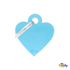 Picture of SMALL HEART ALUMINUM LIGHT BLUE
