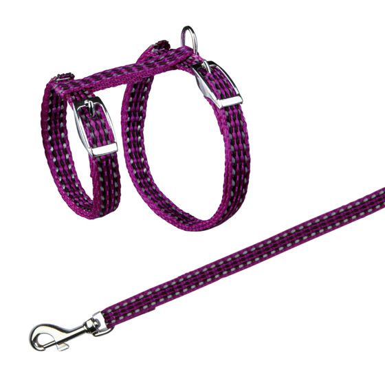 Picture of Cat harn. w. leash reflect  22-42 cm-10