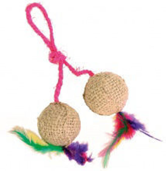 Picture of Two balls on a rope jute 4.5 cm