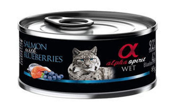 Picture of  Alpha Spirit Cat Salmon + Blueberrie 85g