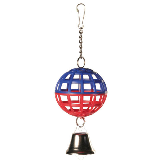 Picture of Lattice ball with chain and bell 7cm