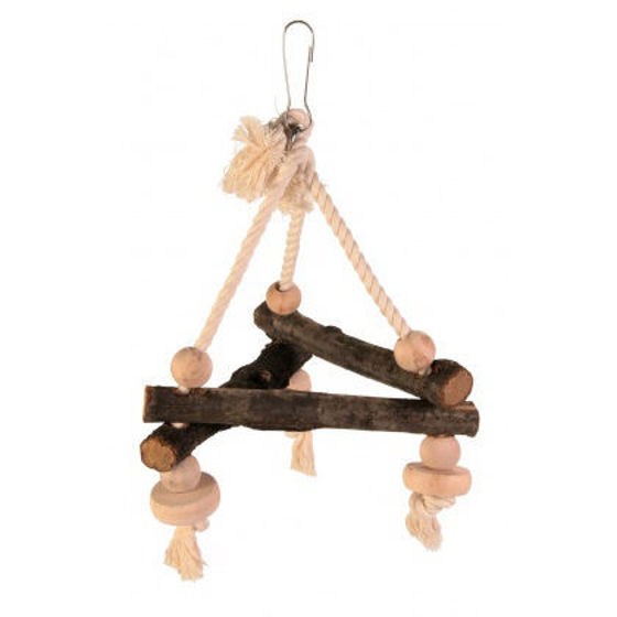 Picture of Natural living swing on rope 16x16x16
