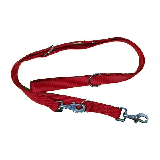 Picture of Double thickness training leash 25x200mm red