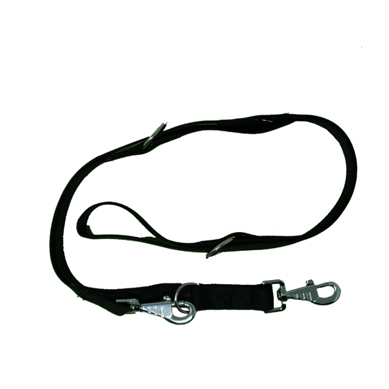Picture of Double thickness training leash 25x200mm black