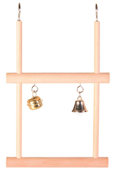 Picture of Swinging trapeze double with bell wood