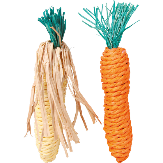 Picture of  Carrot and corn cab straw 15 cm 2 pcs