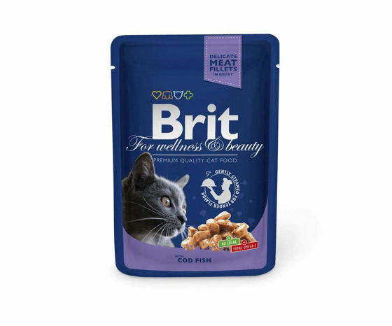 Picture of Wet Cat Food for Adult Cats with Cod Fish 100 gr