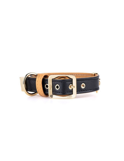 Picture of MyFamily Collar 27/31-1,6 cm Black- 24ct gold
