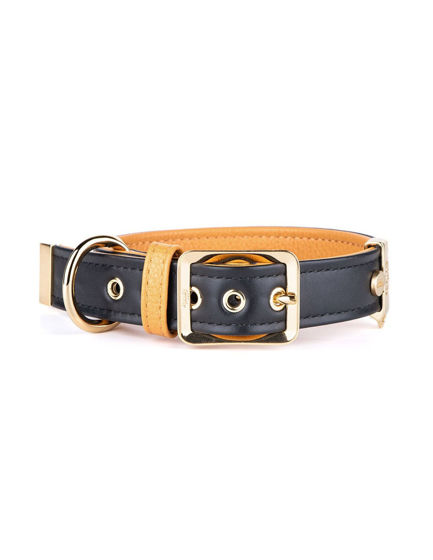 Picture of MyFamily Collar 49/59-3,4 cm Black- 24ct gold