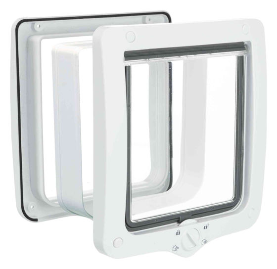 Picture of 4-Way cat flap with tunnel XL 24x28cm wh