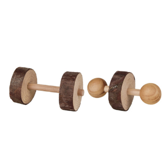 Picture of Wooden dumbell 4,5 x 9 cm 2 stk