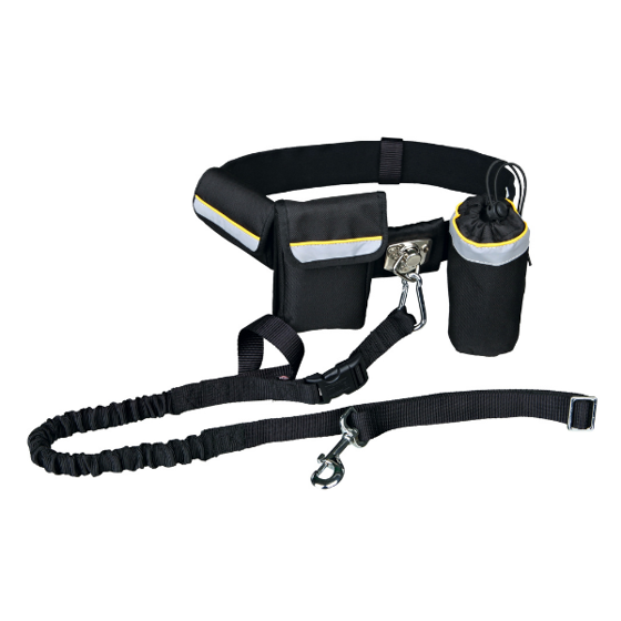 Picture of Waist belt with leash up to 40 kg black