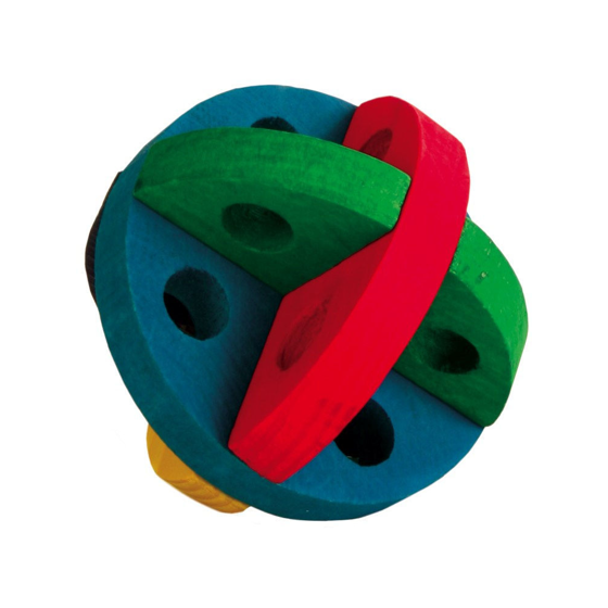 Picture of Play and snack ball. wooden.  8 cm