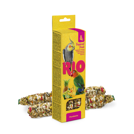 Picture of RIO Sticks for parakeets with tropical fruit, 2x75