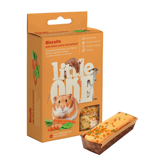 Picture of Little One Biscuits with carrot and spinach, 5x7 g