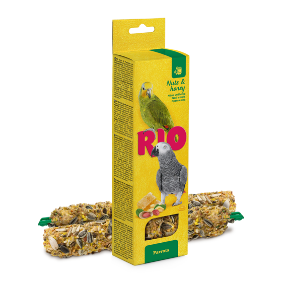 Picture of RIO Sticks for parrots with honey and nuts, 2x90 g