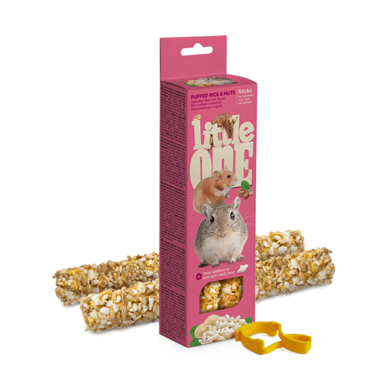 Picture of Little One Sticks with puffed rice and nuts, 2x55
