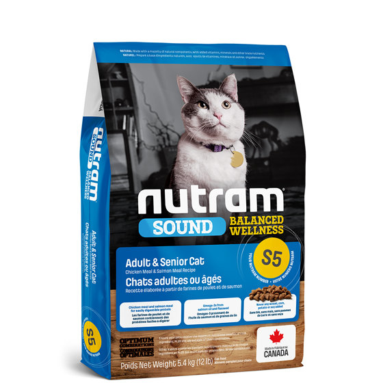 Picture of S5 Nutram Sound balanced well cat 1,13 kg