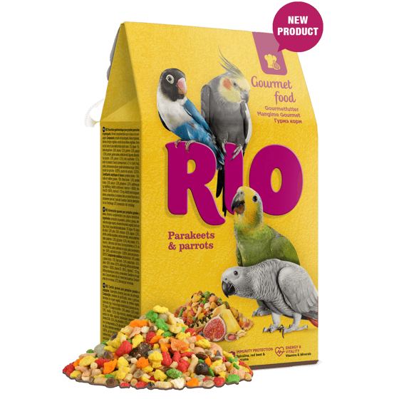 Picture of RIO Gourmet food for parakeets and parrots, 250 g