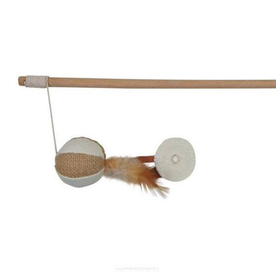 Picture of Playing rod ball with feathers 50 cm