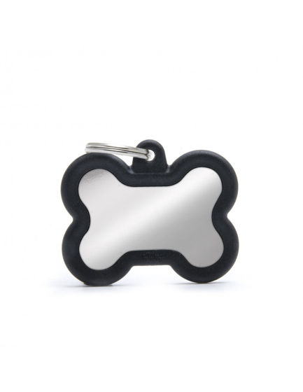Picture of BONE CHROME PLATED BRASS BLACK RUBBER