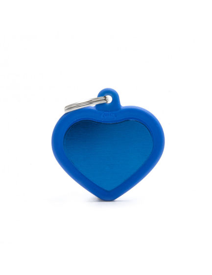 Picture of BLUE HEART ALU BLUE RUBBER