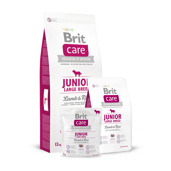 Picture of Brit Care Junior Large Breed Lamb & Rice 3kg