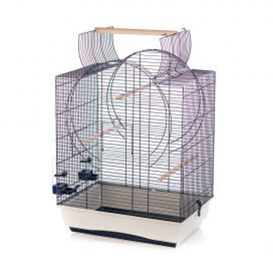 Picture of CAGE EMMA ROOF 54x39x72,5cm grey/blue