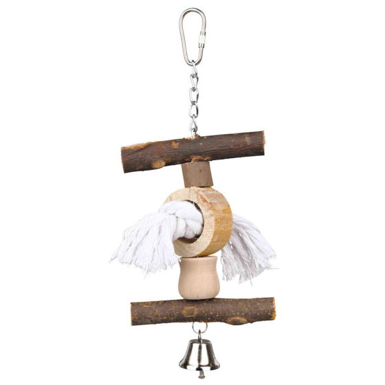 Picture of Natural Living toy with bell/rope, 20 cm