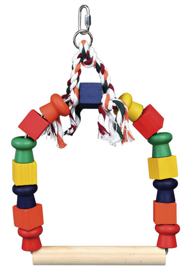 Picture of Arch swing colourful wooden blocks 20 x 29cm
