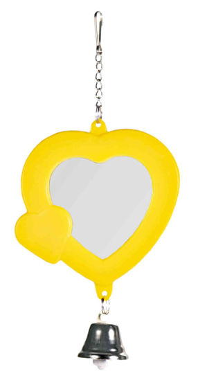Picture of Heart shaped mirror with bell 7cm
