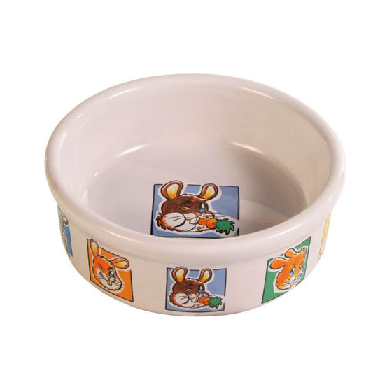 Picture of Ceramic bowl,motif for rabbits 240 ml
