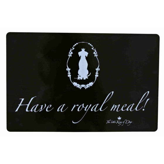 Picture of King of Dogs place mat, 44 × 28 cm, black