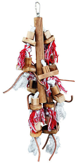 Picture of Wooden toy W.leather ribbon 45 cm